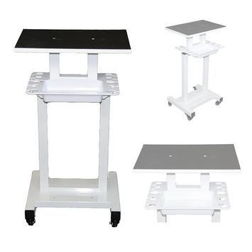 LCL Beauty Steel Frame Salon Spa Roller Trolley Cart Stand Storage Bin and Tool Implement Racks