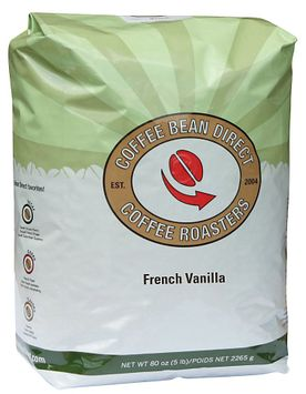 Coffee Bean Direct French Vanilla Flavored, Whole Bean