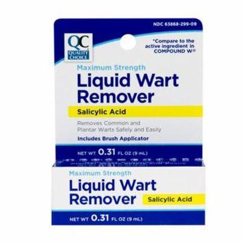 5 Pack Quality Choice Wart Remover Liquid 0.31 Ounces Each