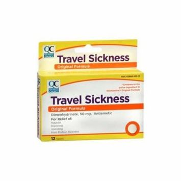 Quality Choice Travel Motion Sickness 12 Tablets Each
