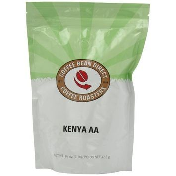 Coffee Bean Direct Kenya AA, Whole Bean Coffee, 16-Ounce Bags (Pack of 3)