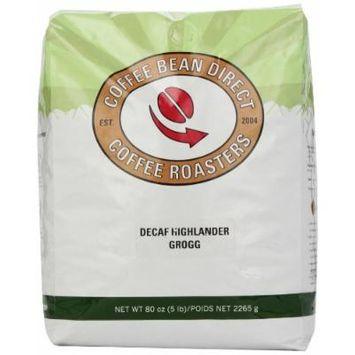 Coffee Bean Direct Decaf Highlander Grogg Flavored, Whole Bean Coffee, 5-Pound Bag