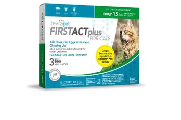 Tevra Pet TevraPet FirstAct Plus for Cats, 3 Doses