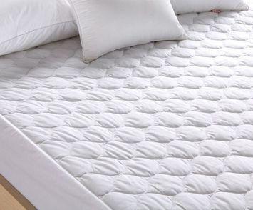 Pal Fabric Premium Mattress Pad -Hypoallergenic Fiber Fill Topper - Waterproof- Vinyl Free-Deep Fitted skirt TWIN SIZE