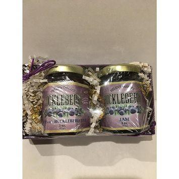 Wild Huckleberry Jam & Huckleberry Honey Gift Box from Washington: 3oz Huckleberry Jam, 3oz Huckleberry Honey