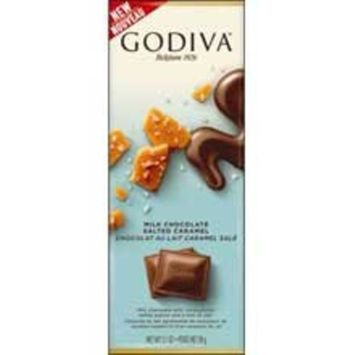 Godiva Milk Chocolate Salted Caramel Bar, 90 gram - 20 per case.
