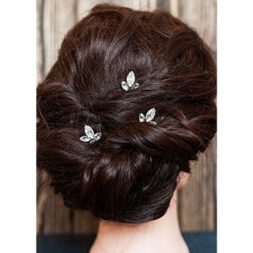 FXmimior Bridal Women Vintage Wedding Party Hair Pins Crystal Hair Accessories(pack of 3)
