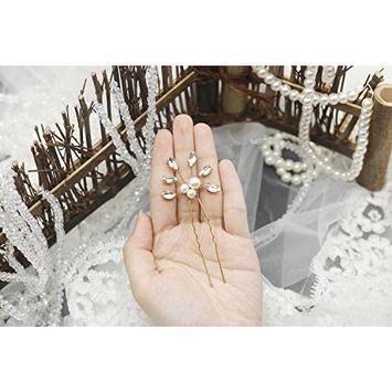 FXmimior Bridal 3 PCS Rhinestone Crystal Hair Pins Wedding Headpiece Special Occasion Hair Pins
