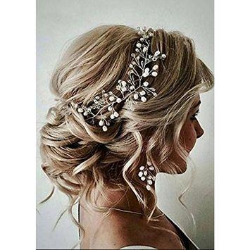 FXmimior Bride Hair Accessories Crystal Hair Vine Headband Wedding Hair Comb Evening Party Hair Piece (g