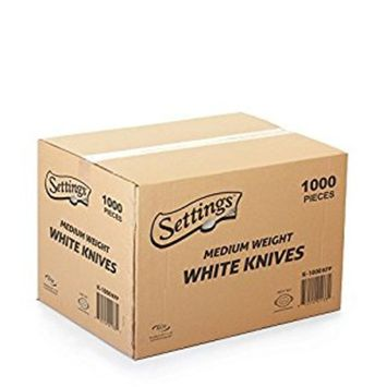 Settings Cutlery Knives 1000 Count Disposable Plastic White
