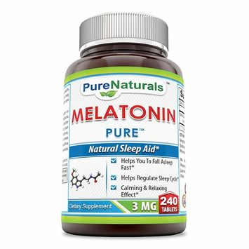 Pure Naturals Melatonin Tablets, 3 mg, 240 Count
