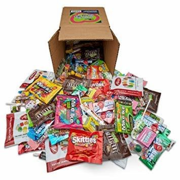 Your Favorite Mix of Premium Candy! 5 Pounds Of Gummy Bears, Skittles, M&M's, Blow Pop's, Tootsie Rolls, Mike & Ike's, Bulk Box By Snackadilly [5.0 Pounds]