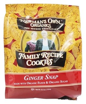 Newman's Own Organics - Organic Family Recipe Cookies Ginger Snap - 6.5 oz(pack of 4)