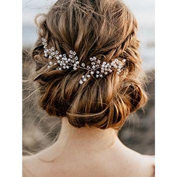 fxmimior Bridal Wedding Headpiece Hair Vine Crystals Rhinestone Headband Tiara Wedding Party Evening Hair Accessory