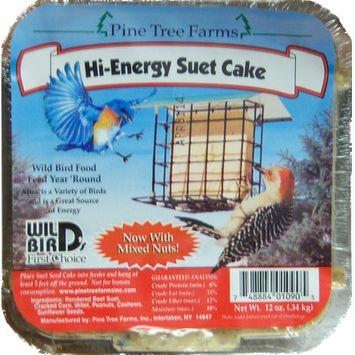 Pine Tree Farms Hi Energy Suet Cake 3 Lb