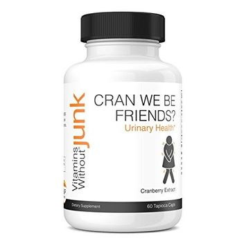 Vitamins Without Junk Cran We Be Friends? (Cranberry Extract Supplement) UTI Relief, 500 mg, 60 Vegetarian Tapioca Based Capsules - Dairy Free - Vegan