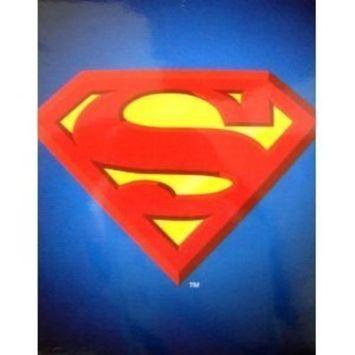 JPI Plush Throw Blanket - Superman Shield - Queen Bed 79