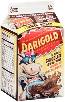 Darigold® Chocolate 1% Milkfat Low Fat Milk Vitamin A & D 1 pt. Carton