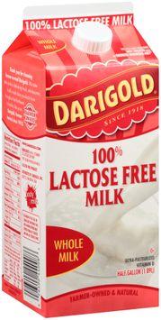 Darigold® 100% Lactose Free Whole Milk .5 Gal. Carton