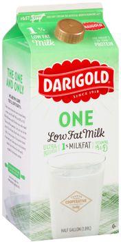 Darigold® One Low Fat Milk 0.5 gal. Carton