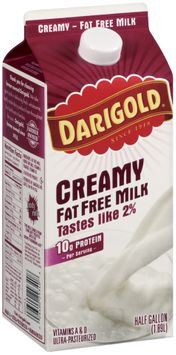 Darigold Creamy Fat Free Milk .5 Gal Carton