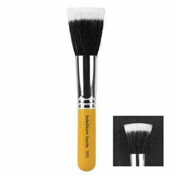 Bdellium Tools Travel Line Duet Fiber Finishing Brush, Yellow