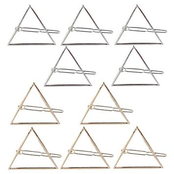 ULTNICE Hollow Triangle Geometric Metal Hairpin Hair Clip Accessories Barrettes