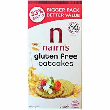 Nairn's Gluten Free Scottish Oatcake Crackers 213g (7.51 oz) | 8 Packs Total 1704g