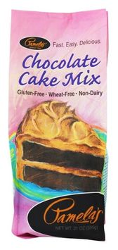 Pamela's Products - All Natural Cake Mix Gluten Free Chocolate - 21 oz(pack of 2)