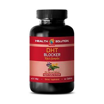 hair growth pills dht blocker - DHT BLOCKER HAIR COMPLEX - FOR MEN AND WOMEN - SUPPORT HEALTHY HAIR GROWTH - zinc for hair loss - 1 Bottle...