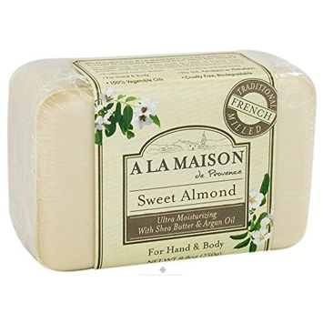 A La Maison Sweet Almond Bar Soap, 8.8 Ounce - 1 Each. by A La Maison de Provence