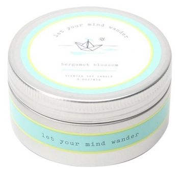 Tin Container Candle Bergamot Blossom 3oz - Happy Place