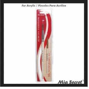 Mia Secret # 8 Duo Acrylic 2 Brush Set Nail Professional NB13 GLOBAL SHIP+ Free Temporary Body Tatoo!