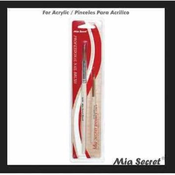 Mia Secret Duo Acrylic 2 Brush Set # 8 OR Nail Professional NB14 + Free Temporary Body Tatoo!