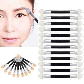 Iuhan 12Pcs Makeup Double-end Eye Shadow Eyeliner Brush Sponge Applicator Tool
