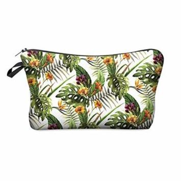 StylesILove Cute Graphic Pouch Travel Case Cosmetic Makeup Bag (HB0010.G.TropicalFlower)