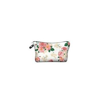 StylesILove Cute Graphic Pouch Travel Case Cosmetic Makeup Bag (Powder Pink Rose)
