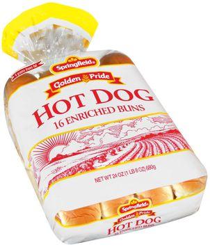 Springfield Hot Dog 16 Ct Buns
