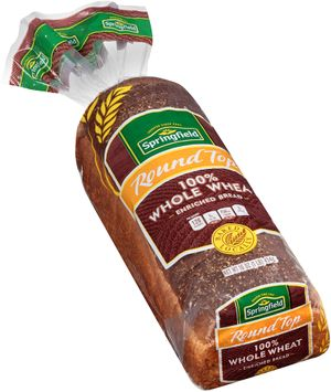springfield® round top 100% whole wheat bread