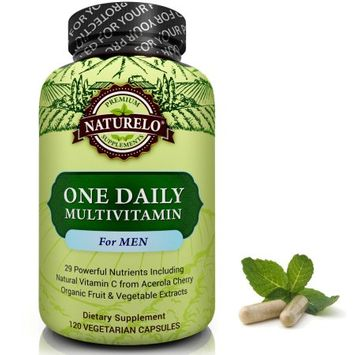 Naturelo One Daily Multivitamin for Men - 120 Capsules 4 Month Supply