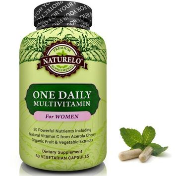 Naturelo One Daily Multivitamin for Women - 60 Capsules 2 Month Supply