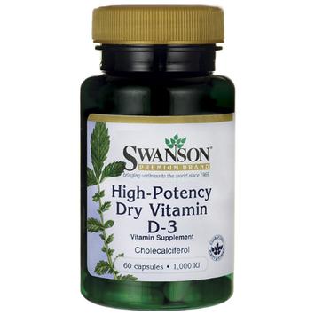 Swanson High Potency Vitamin D-3 1,000 Iu (25 mcg) 60 Caps