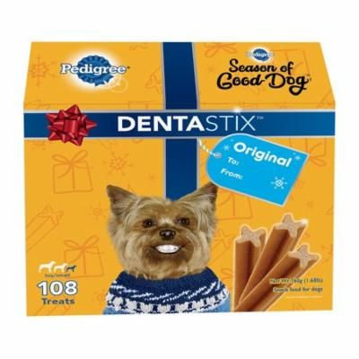Pedigree Dentastix Original Toy/small Treats For Dogs, 108-count Limited Edition Christmas Gift Box