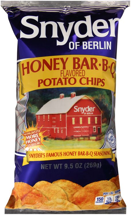 snyder of berlin® honey barbqavored potato chips