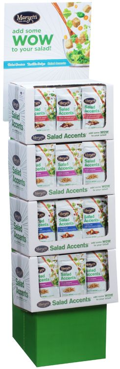 Marzetti® Asian Sesame/Bacon Almond Crunch/Fruit & Nut Salad Accents® 48 ct Corrugated Display