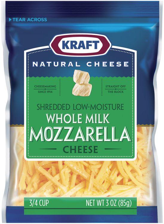 KRAFT NATURAL CHEESE Mozzarella Low-Moisture Whole Milk Shredded CHEESE