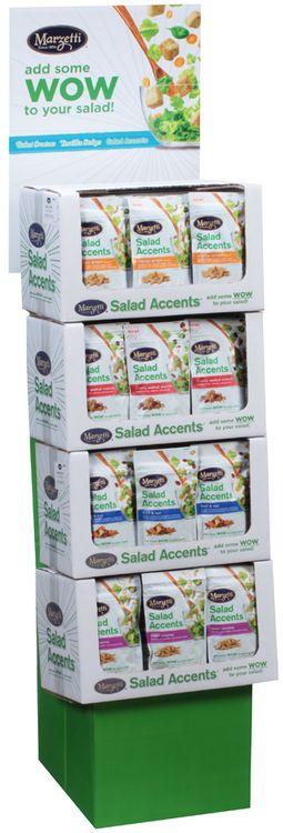 Marzetti® Asian Sesame/Fruit & Nut/Cherry Walnut Crunch/Orange Ginger Salad Accents® 48 ct Corrugated Display