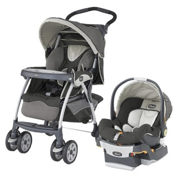 Travel Stroller & Baby Car Seat: Chicco Cortina SE, Black/Cream