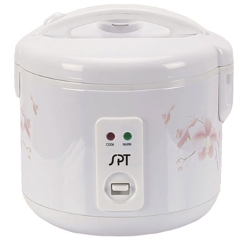 SPT 10-Cup Rice Cooker in White SC-1813W