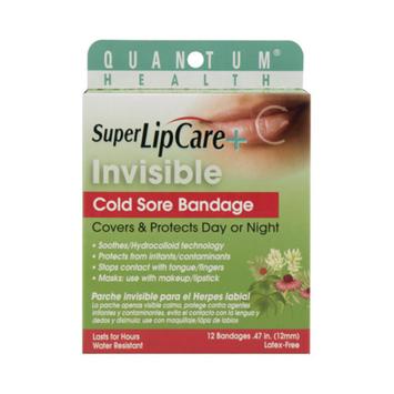 Quantum Research 1190743 Lipcare Plus Invisible Cold Sore Bandage 12 Count